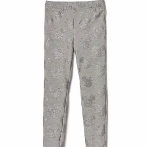 Gap girls gray glittered Mickey Mouse leggings